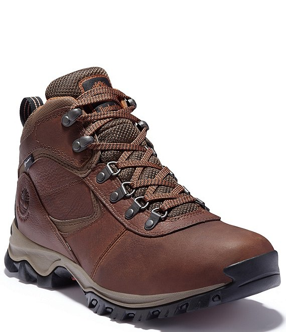 Color:Medium Brown - Image 1 - Men's Mt. Maddsen Waterproof Leather Boots