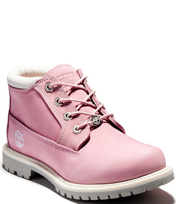 Color:Pink - Image 1 - Women's Nellie Waterproof Chukka Ankle Booties