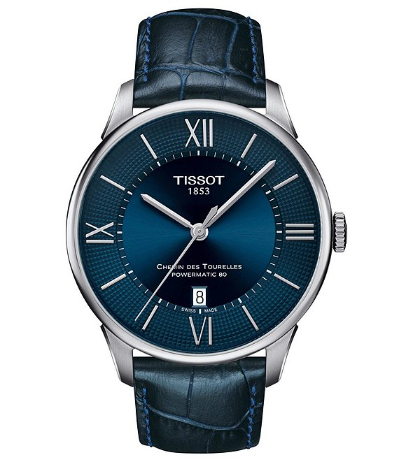 Tissot Chemin Des Tourelles Powermatic 80 Leather Watch