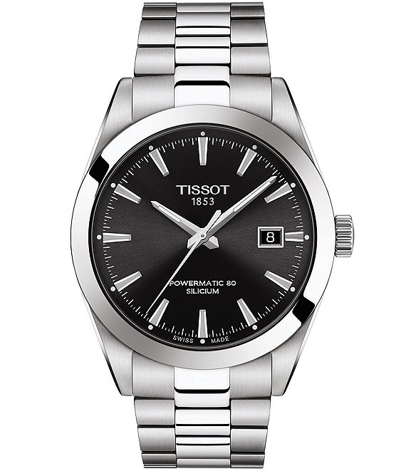 Tissot Gentleman Powermatic Stainless Steel Black Dial Automatic Watch