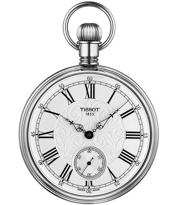 Color:Silver - Image 1 - Lepine Mechanical Pocket Watch