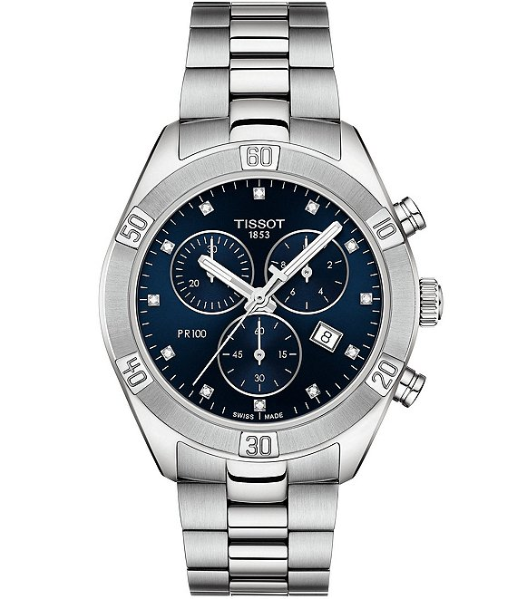 Tissot PR 100 Sport Chic Blue Dial Chronograph Watch