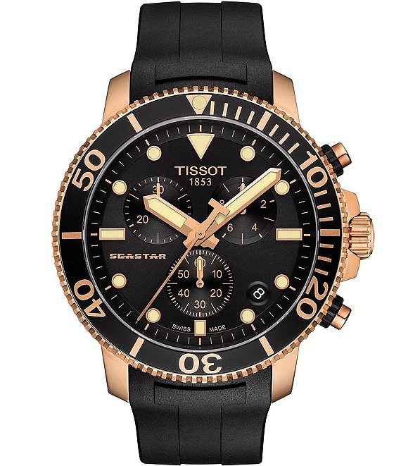 Tissot Seastar 100 Copper Black Chronograph Watch