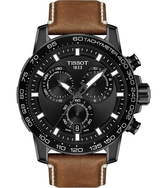 Color:Brown - Image 1 - Supersport Chrono Black Dial Watch