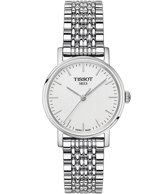 Color:Silver - Image 1 - T-Classic Everytime Analog Bracelet Watch