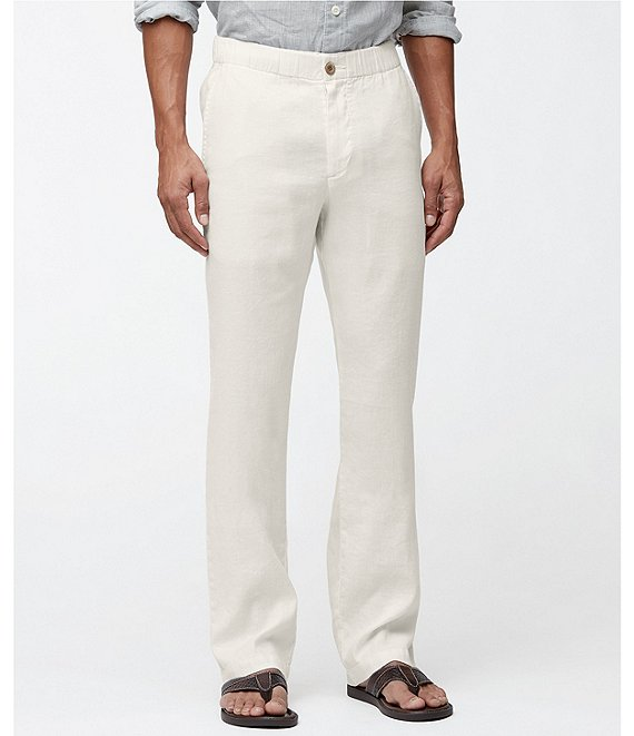 Color:Continental - Image 1 - Big & Tall Beach Linen Pull On Pants