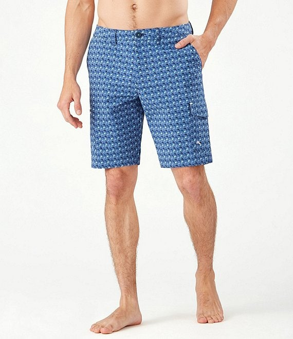 Color:Dockside Blue - Image 1 - Big & Tall Cayman Marlin Mingle Cargo Hybrid 9#double; and 10#double; Inseam Shorts