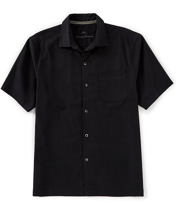 Color:Black - Image 1 - Catalina Stretch Twill Short-Sleeve Woven Shirt