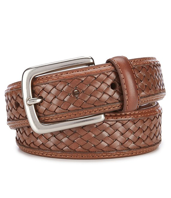 Tommy Bahama Inlay Braid Leather Casual Belt