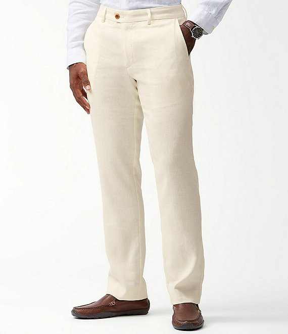 Color:Bleached Sand - Image 1 - Mahalo Bay Flat-Front Pants