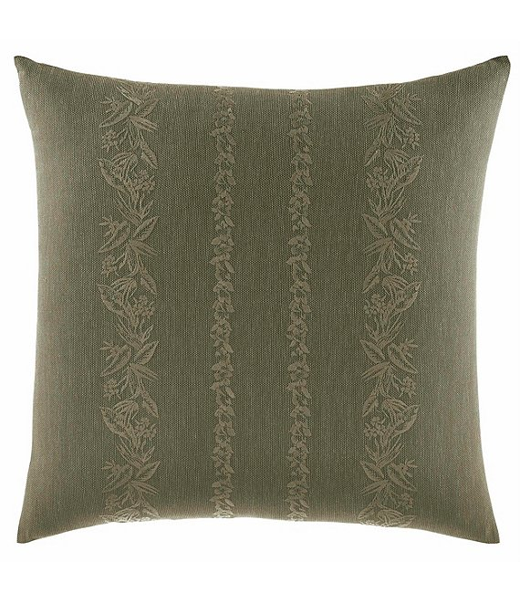 Tommy Bahama Nador Palm & Floral Faux-Linen Square Pillow
