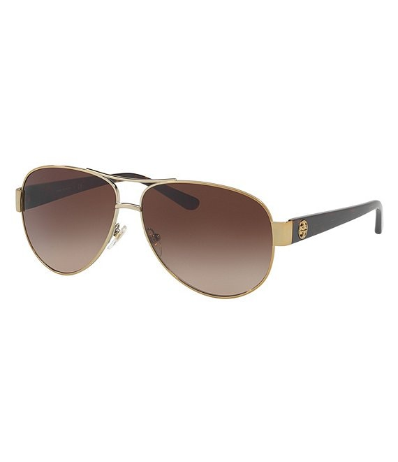 Tory Burch Gradient Aviator Sunglasses