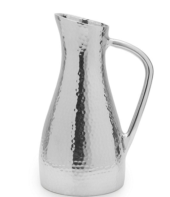 Color:Grey - Image 1 - Hammered Water Pitcher