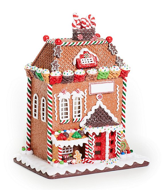 best loved 3203f 96a1c Trimsetter Gingerbread Collection LED Lighted Waffle Cone Gingerbread House