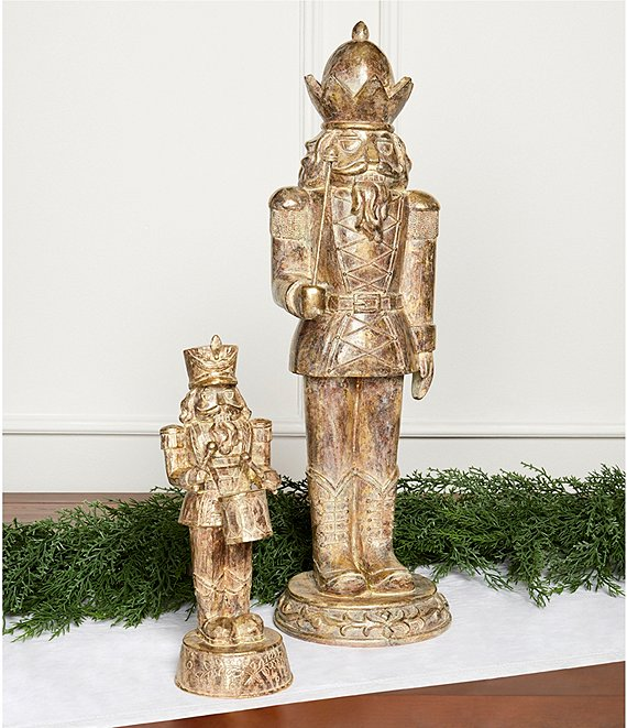 Color:Gold - Image 1 - I'll Be Home for Christmas Collection Vintage Soldier Nutcracker Figurine