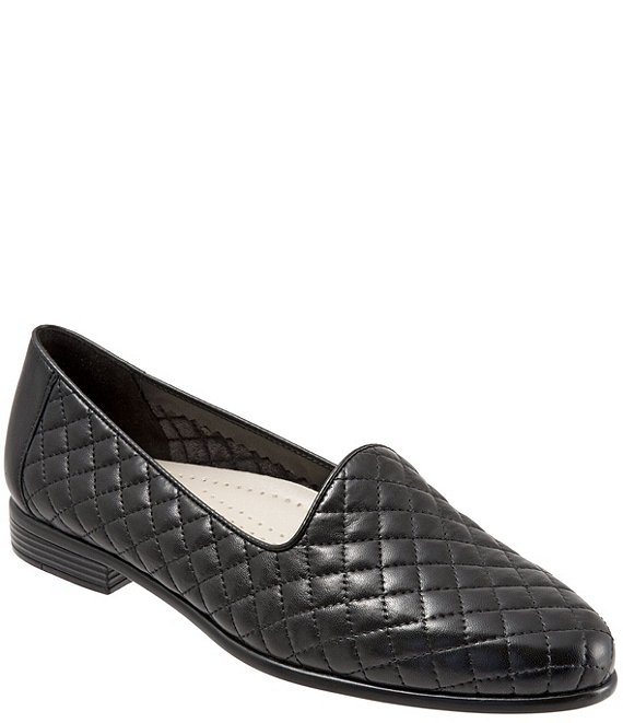 Color:Black Quilted - Image 1 - Liz Quilted Loafers