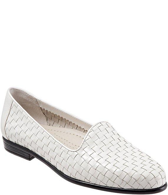 6d5ba7e3378 Trotters Liz Woven Block Heel Loafers