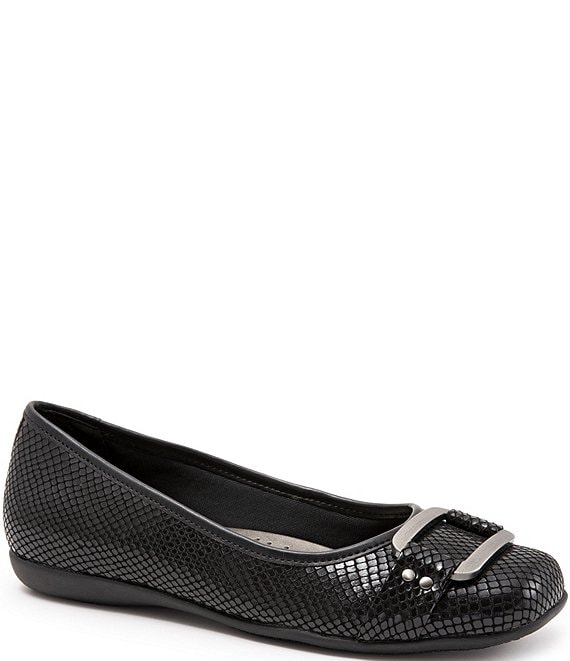 Trotters Sizzle Signature Snake Print Slip Ons