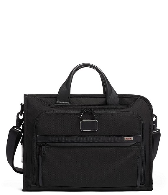 Color:Black - Image 1 - Alpha Slim Deluxe Portfolio Bag