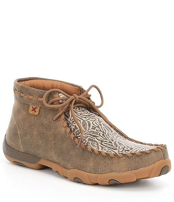 Twisted X Women's Tooled Chukka Driving Mocs