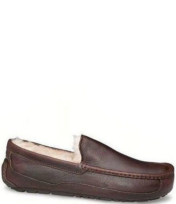 9539c4cb3 UGG® Ascot Men's Leather Slippers | Dillard's