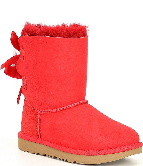 Color:Ribbon Red - Image 1 - UGG® Girls' Bailey Bow II Boots (Youth)