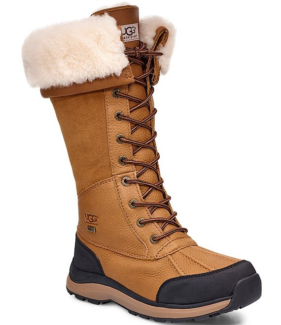 Color:Chestnut - Image 1 - UGG® Adirondack Waterproof Tall III Winter Boots