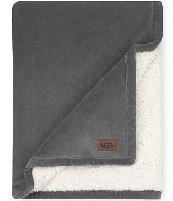 Color:Charcoal - Image 1 - Bliss Sherpa Throw