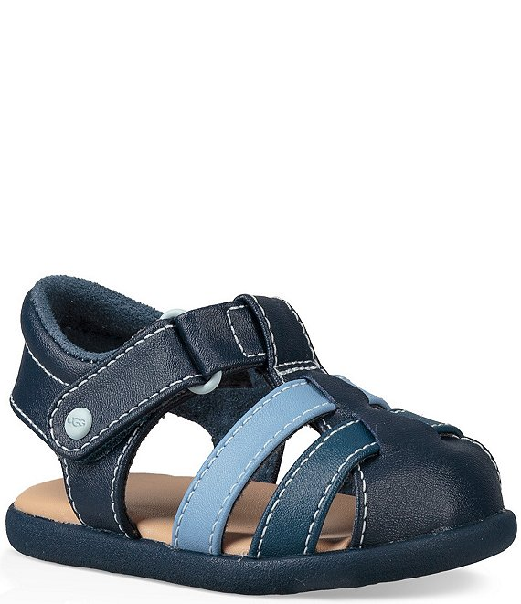 Color:Navy - Image 1 - UGG® Kids' Kolding Fisherman Sandals (Infant)