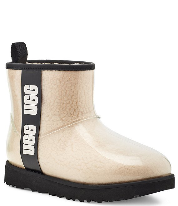 Color:Natural/Black - Image 1 - UGG® Classic Clear Mini Waterproof Boots