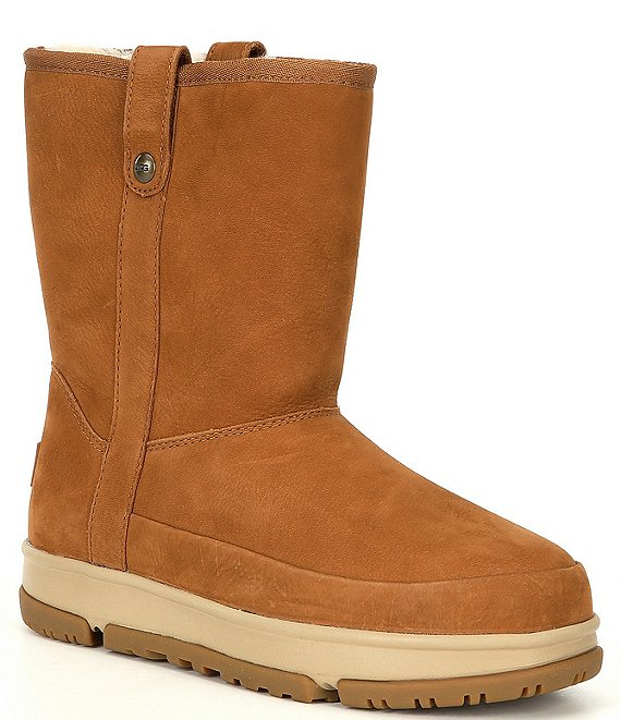 Color:Chestnut - Image 1 - UGG® Classic Weather Waterproof Nubuck Leather Short Boots
