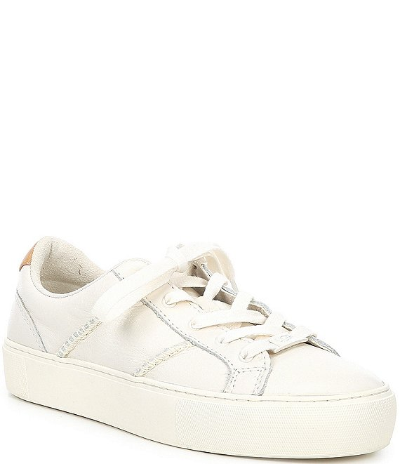 Color:Coconut Milk Leather - Image 1 - UGG® Dinale Leather Sneakers