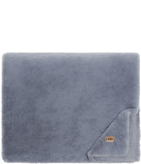 Color:Chambray - Image 1 - Euphoria Faux-Fur Throw