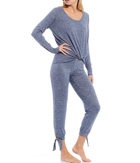 Color:Navy Heather - Image 1 - Fallon Baby Terry Knit Lounge Set