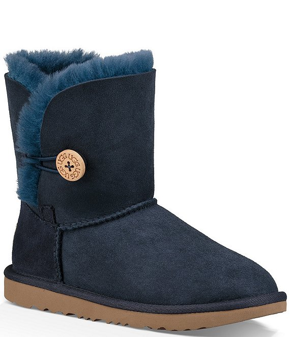 Color:Navy - Image 1 - UGG® Girls' Bailey Button II Boots (Youth)