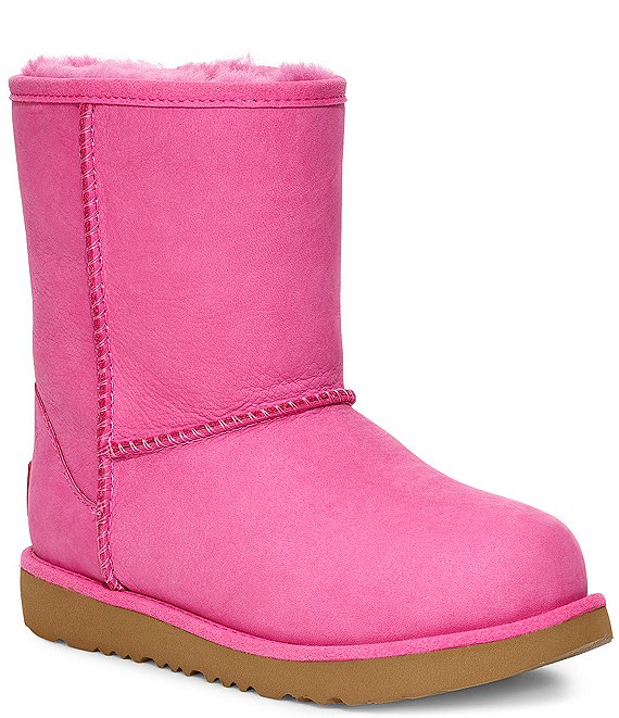 Color:Pink Azalea - Image 1 - UGG® Girls' Classic Weather Waterproof Short Boots (Youth)