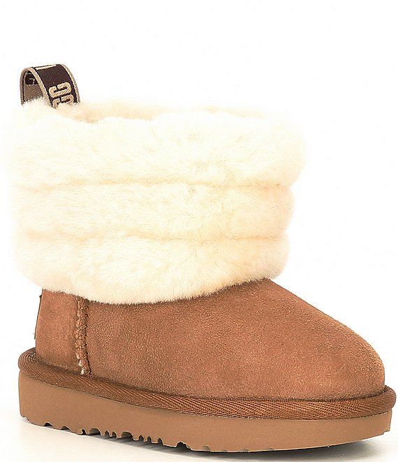 UGG® Girls' Fluff Mini Quilted Boots