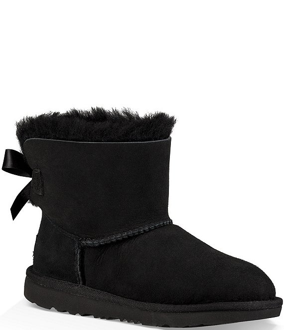 Color:Black - Image 1 - UGG® Girls' Mini Bailey Bow II Boots (Infant)