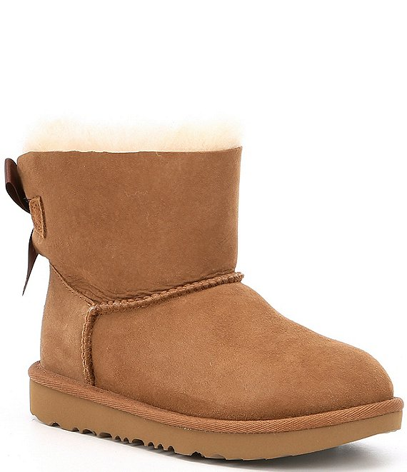 Color:Chestnut - Image 1 - UGG® Girls' Mini Bailey Bow II Boots (Youth)