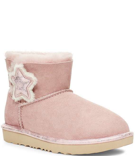 Color:Pink Crystal - Image 1 - UGG® Girls' Mini Bailey Button Star Boots (Infant)
