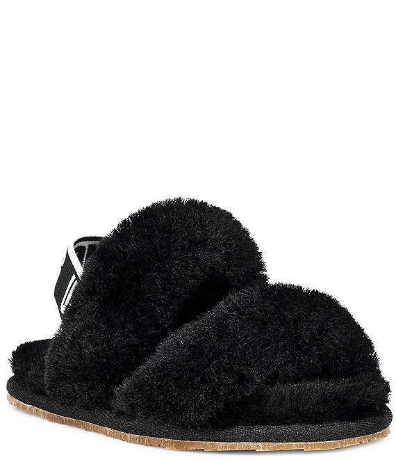 Color:Black - Image 1 - UGG® Girls' Oh Yeah Slipper (Toddler)