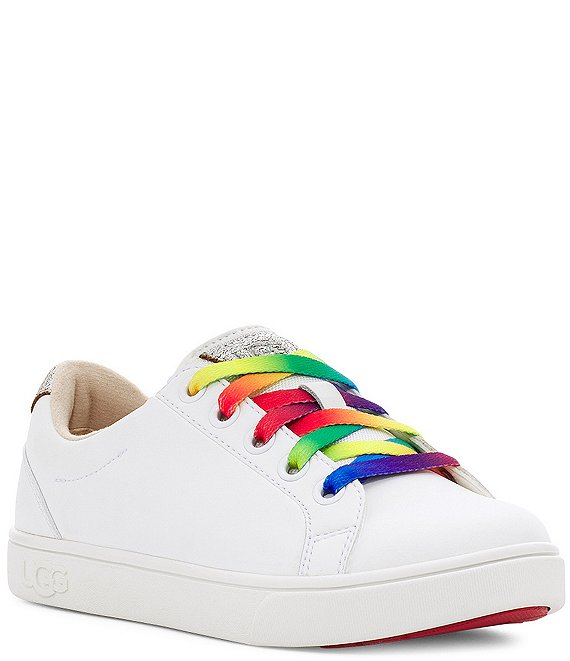 Color:White - Image 1 - UGG® Girls' Zilo Sneakers (Toddler)
