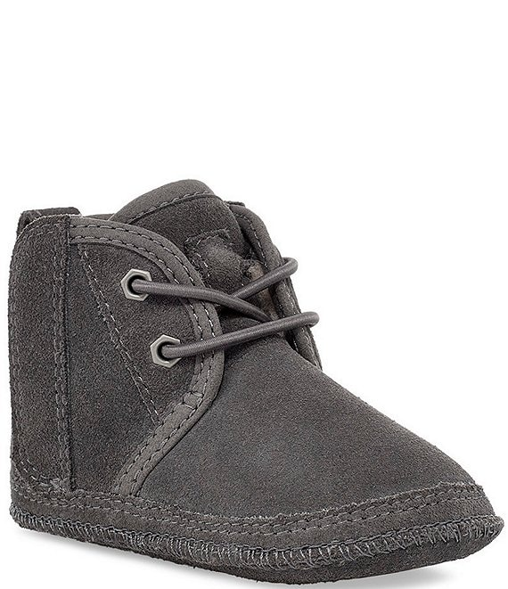 Color:Charcoal - Image 1 - UGG® Kids' Baby Neumel Crib Shoes (Infant)