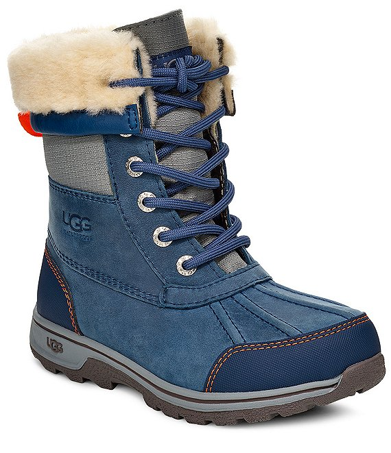 UGG® Kids' Butte II CWR Waterproof Leather Winter Boots (Youth)