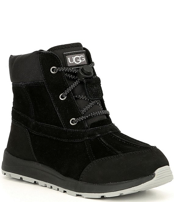 Color:Black - Image 1 - UGG® Kids' Turlock Waterproof Winter Boots (Youth)