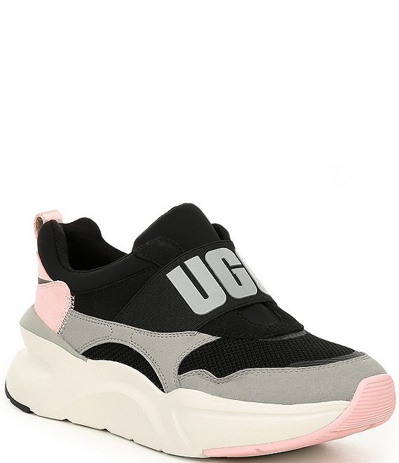 Color:Black/Seal - Image 1 - UGG® La Flex Logo Sneakers