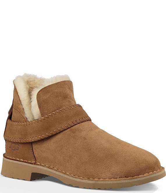 Color:Chestnut - Image 1 - UGG® Mckay Whipstitch Detail Art Deco Rivet Booties