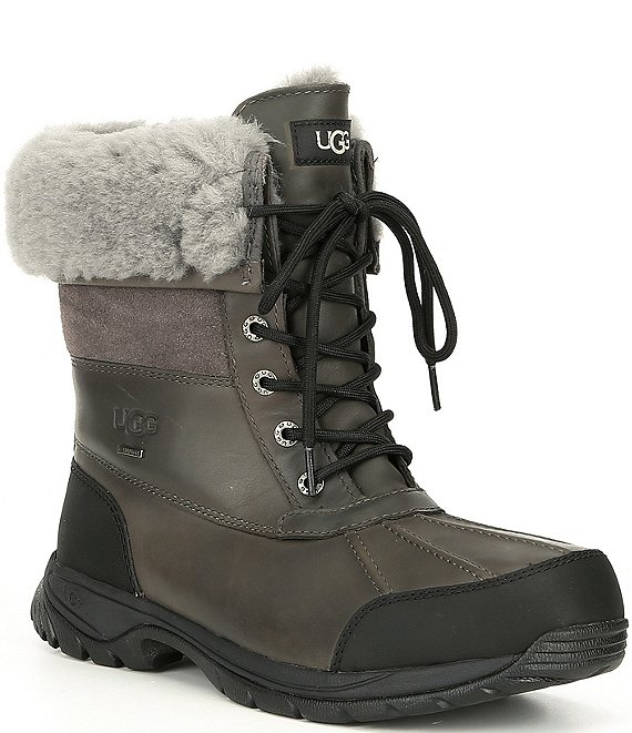 Color:Metal - Image 1 - UGG® Men's Butte Waterproof Leather Winter Boots