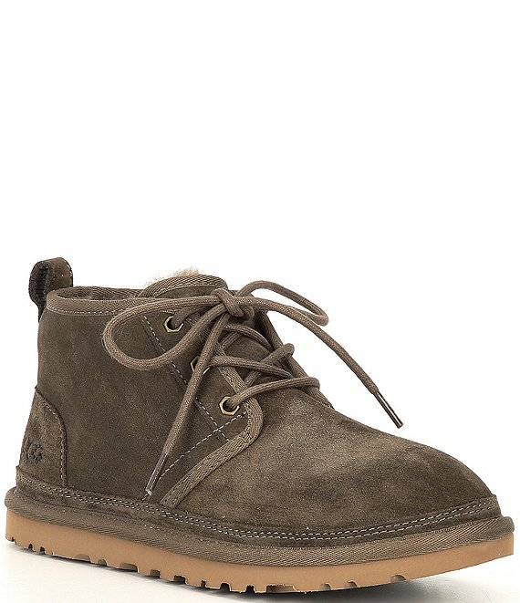 Color:Espresso - Image 1 - UGG® Neumel Women's Suede Lace-up Chukka Boots