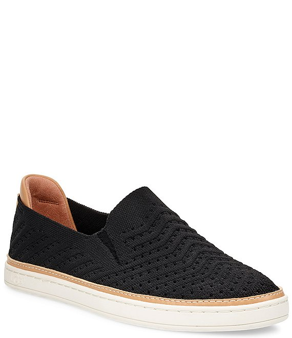 Color:Black - Image 1 - UGG® Sammy Chevron Knit Sneakers